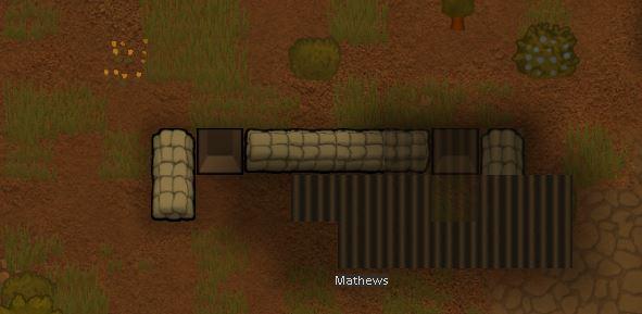 Создание крыши над оборонительной позицией в Rimworld