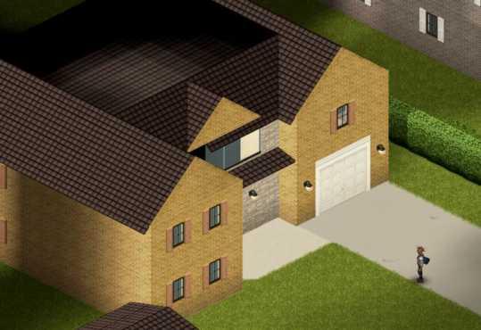 Один из красивых домов в закрытом поселке Риверсайд в Project Zomboid Build 41