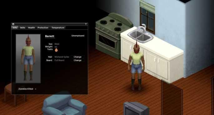 Полнотелый персонаж в Project Zomboid build 41