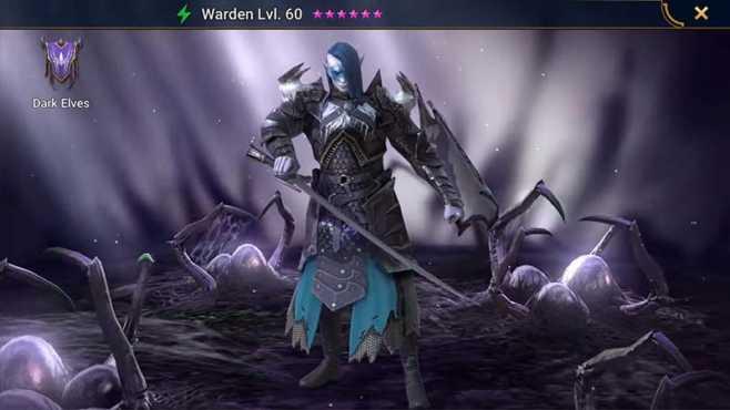 Уровневый список темных эльфов Raid Shadow Legends
