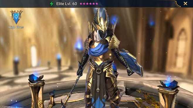 Уровневый список высших эльфов Raid Shadow Legends
