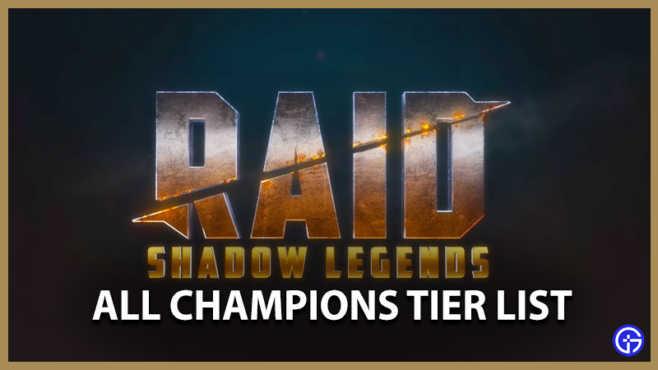 Уровневый список Raid Shadow Legends