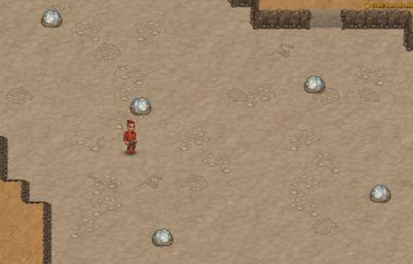 Персонаж, стоящий в соляной квартире в Cryofall