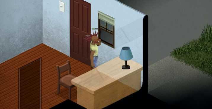 Персонаж с чертой курильщика в Project Zomboid