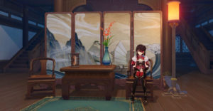 Genshin Impact: все чертежи внутреннего убранства чайник безмятежности