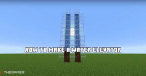 Майнкрафт: Как сделать водяной лифт
