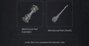 Resident Evil 8 Village: объединение механического цилиндра и вала для создания молота Гейзенберга