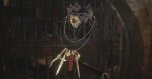 Resident Evil 8 Village Завершите ожерелье с двумя отверстиями — Ожерелье леди Димитреску