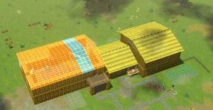 Как построить крышу в Going Medieval