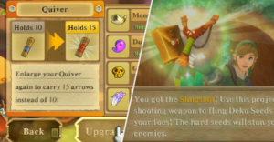 Skyward Sword: улучшение каждого колчана, сумки с бомбой и сумки с семенами