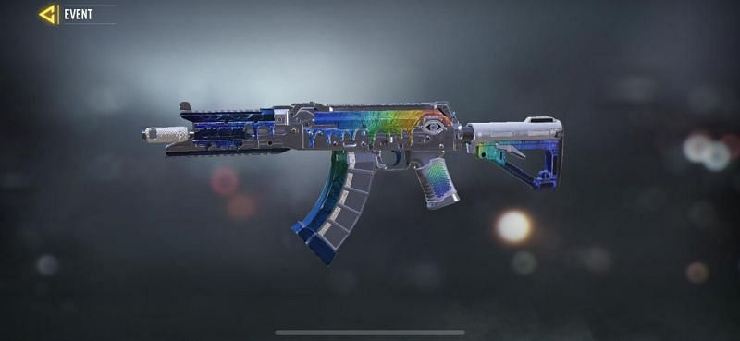 AK117 Rhinestone теперь доступен в COD Mobile (Изображение с COD Mobile)