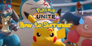 Pokemon Unite — Как сдаться