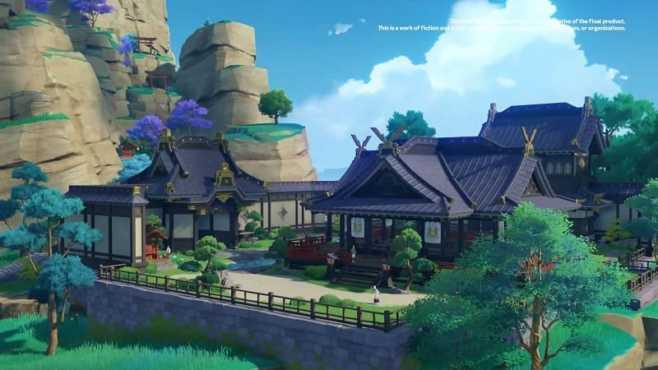 Штаб-квартира комиссии Ясиро в поместье Камисато (Изображение с miHoYo)