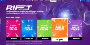 Fortnite: все, что вам нужно знать о Rift Tour